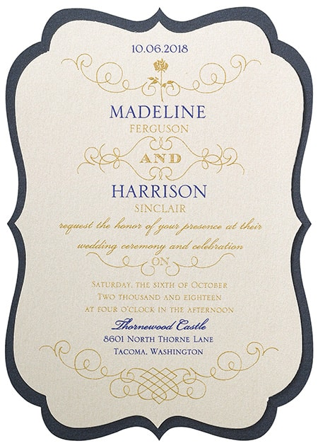 Belle Luxurious Rose Invitations