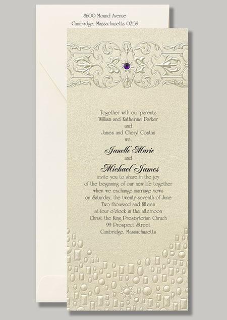 Rapunzel Stationary Flowing Artistry – Disney Fairytale Wedding Invitations