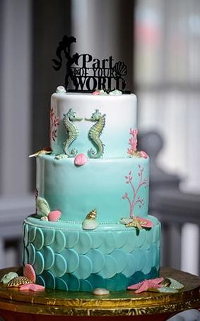 Wedding Cake Wednesday Ariel Under The Sea Cake Disney