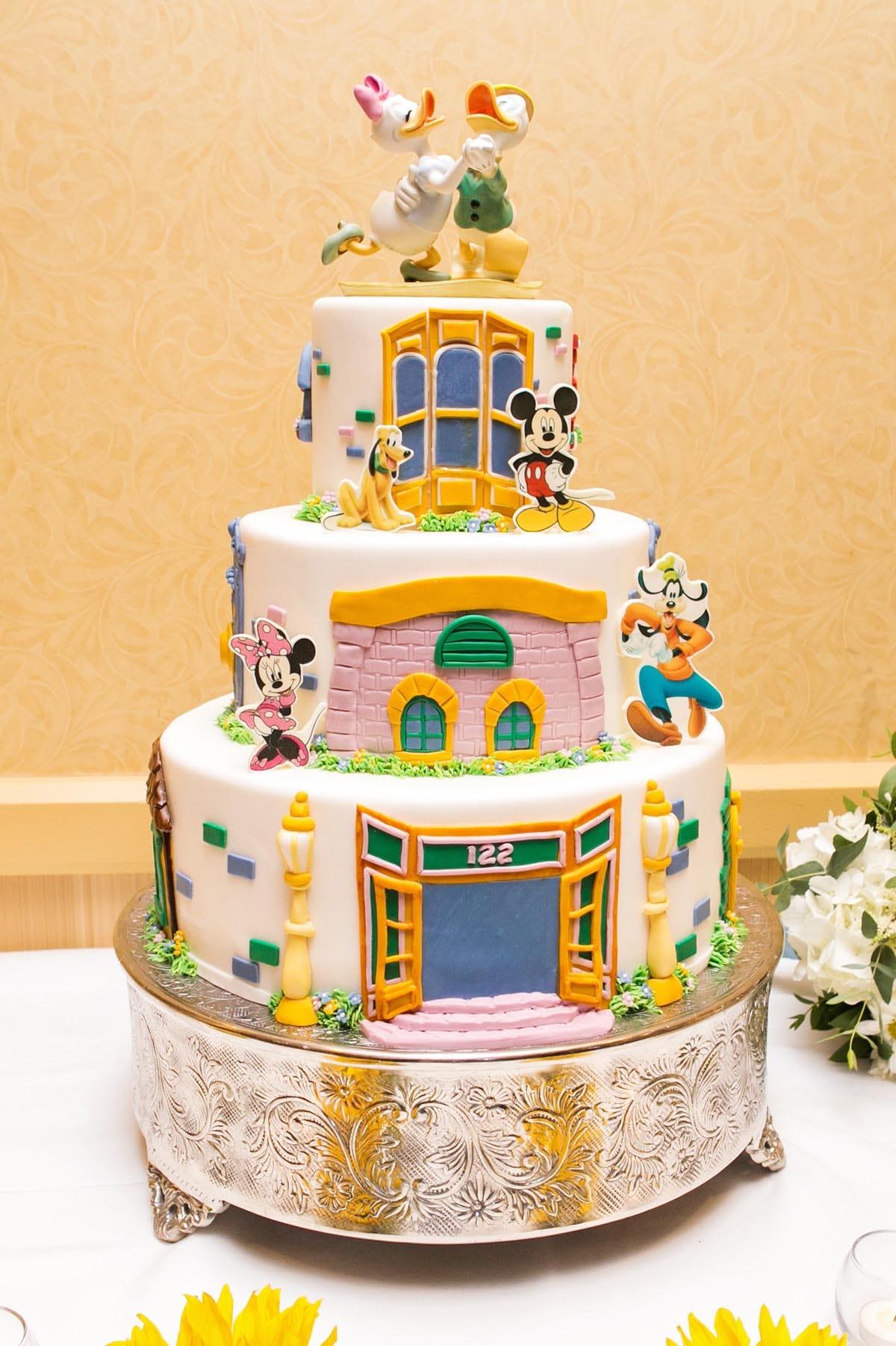 Wedding Cake Wednesday: Mickey\'s Toontown | Disney Weddings| Disney ...