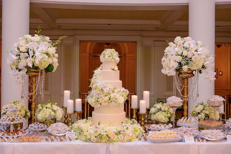 Stunning floral wedding cake ideas disney weddings this truly princess inspired wedding cake with the white and pink floral additions is serious wedding cake goals mightylinksfo