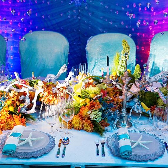 Decor: Under The Sea Inspired Reception | Disney Weddings