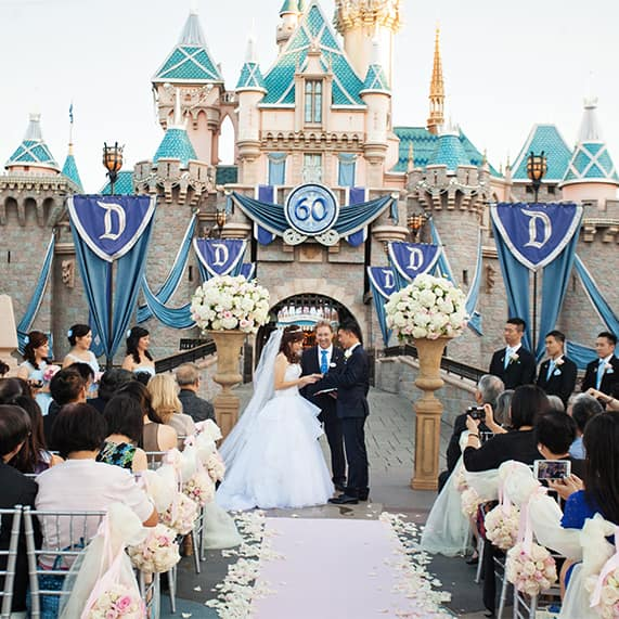 White Castle Wedding: Disneyland Castle Wedding Spotlight: Christina & Kevin