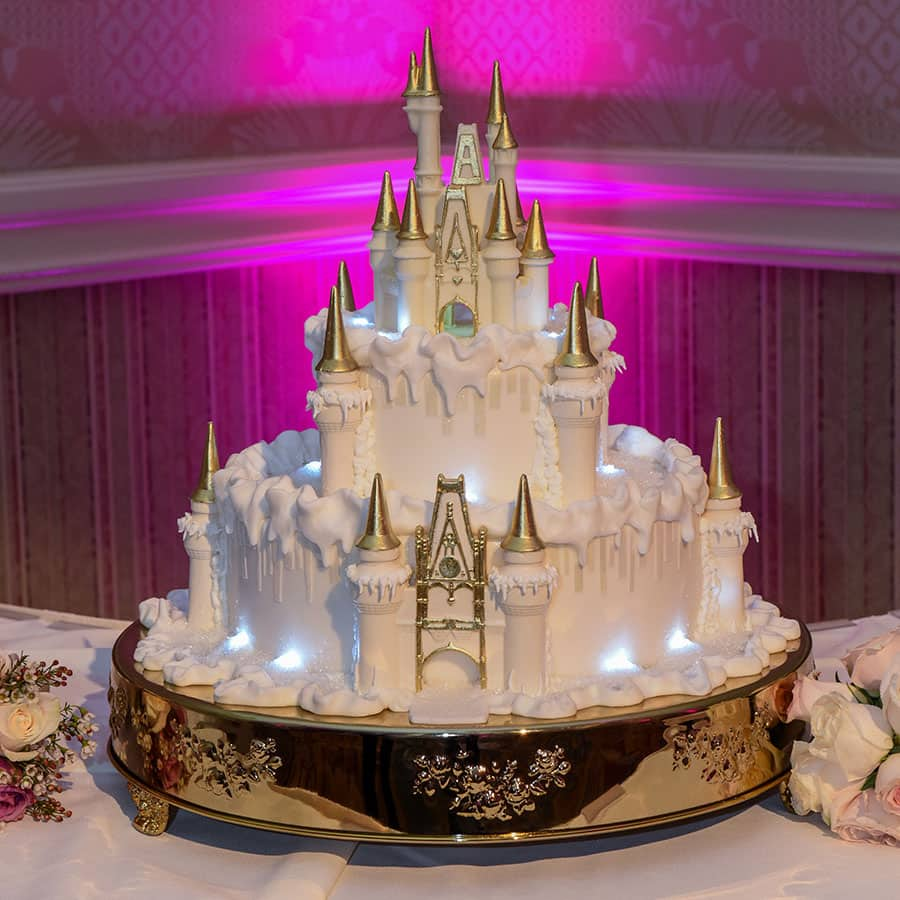 disney themed wedding cake toppers wedding cake wednesday wintertime at cinderella castle 13573
