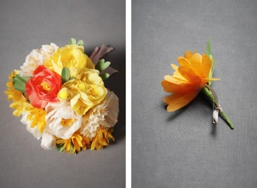 Trend watch tissue paper flowers disney weddings disney weddings prefer to make your own crepe paper flowers like the ones pictured below check out martha stewart weddings for a diy guide mightylinksfo