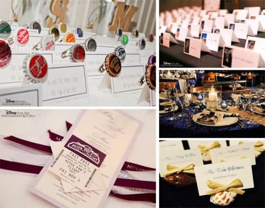 The official disney weddings blog wediquette 101 escort cards vs place cards solutioingenieria Image collections