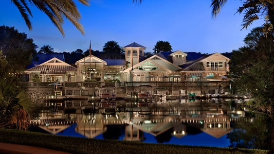 Disney's Old Key West Resort at night
